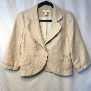 Ann Taylor Loft Blazer 3/4 Sleeve Size 6